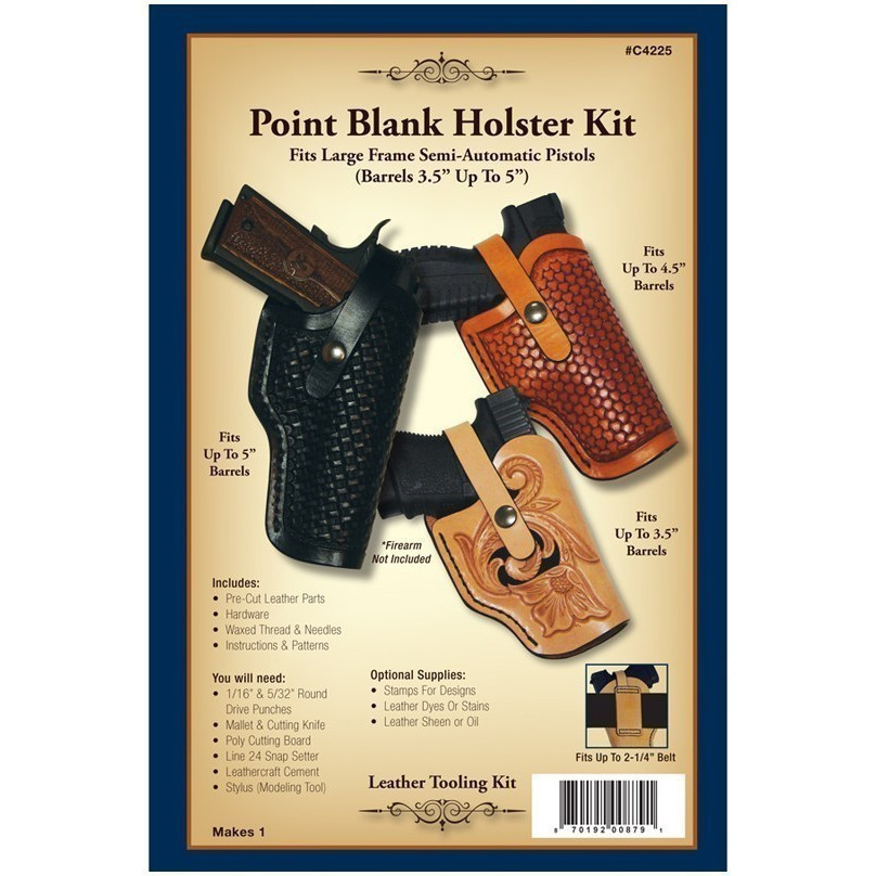 point blank holster kit realeather On leather craft supplies near me